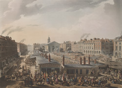 A bird's eye view of Covent Garden Market